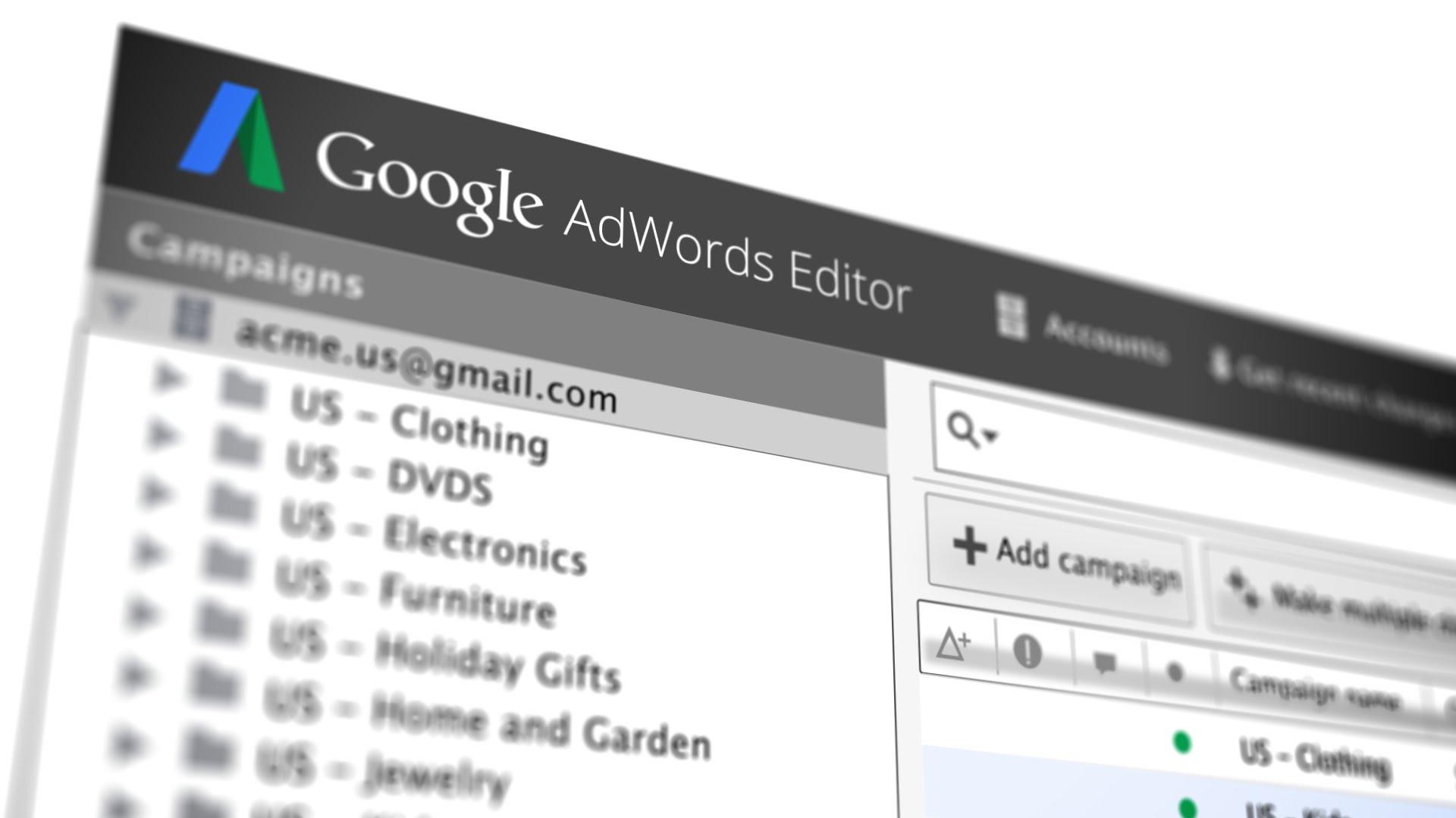 AdWords Editor 10