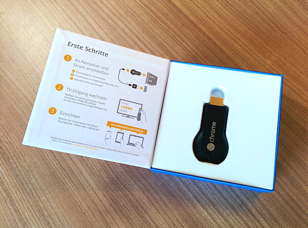 Chromecast Unboxing: Chromecast in der Box
