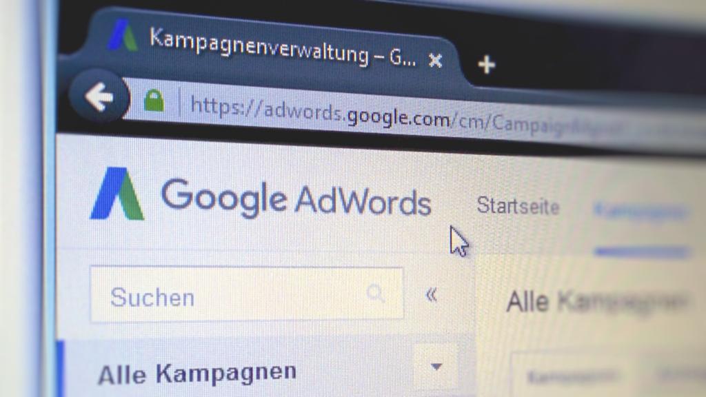 Google AdWords Web Oberfläche