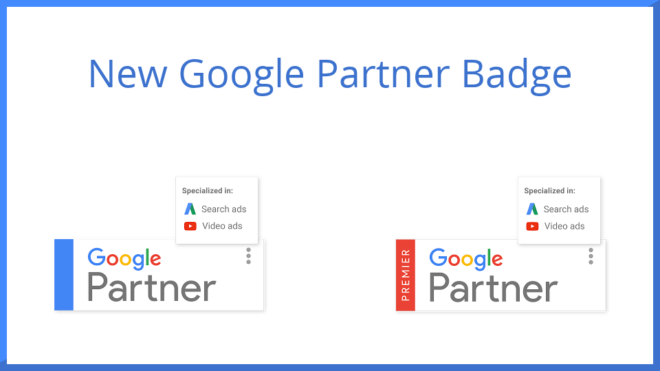 New Google Partner Badges