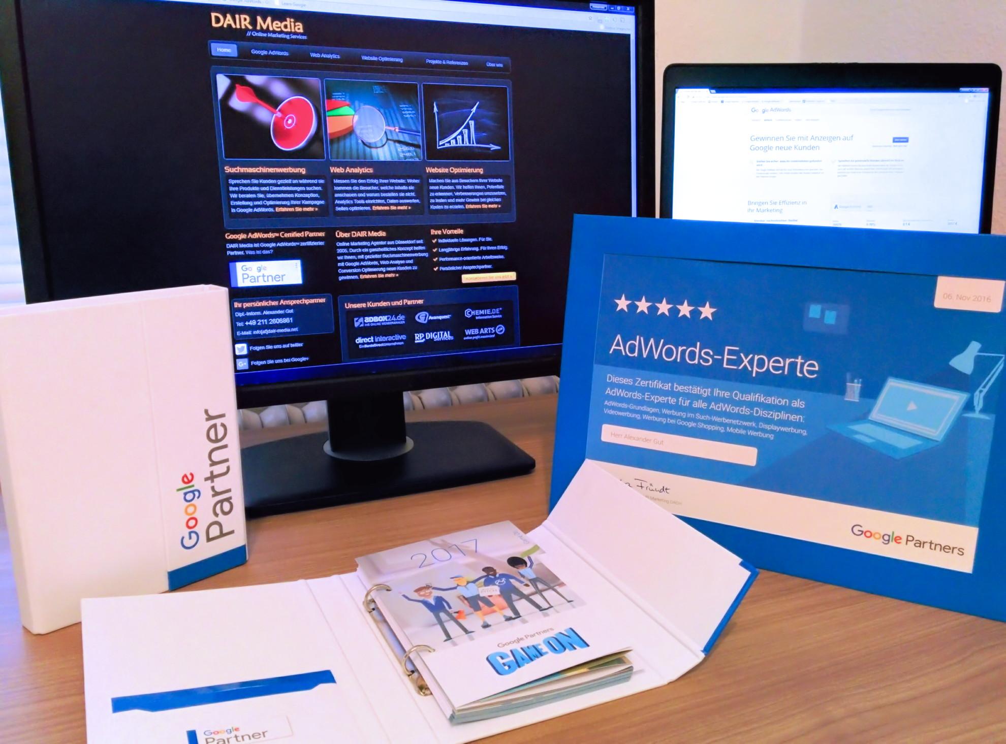 AdWords-Experte Zertifikat und neue Gutscheine für 2017