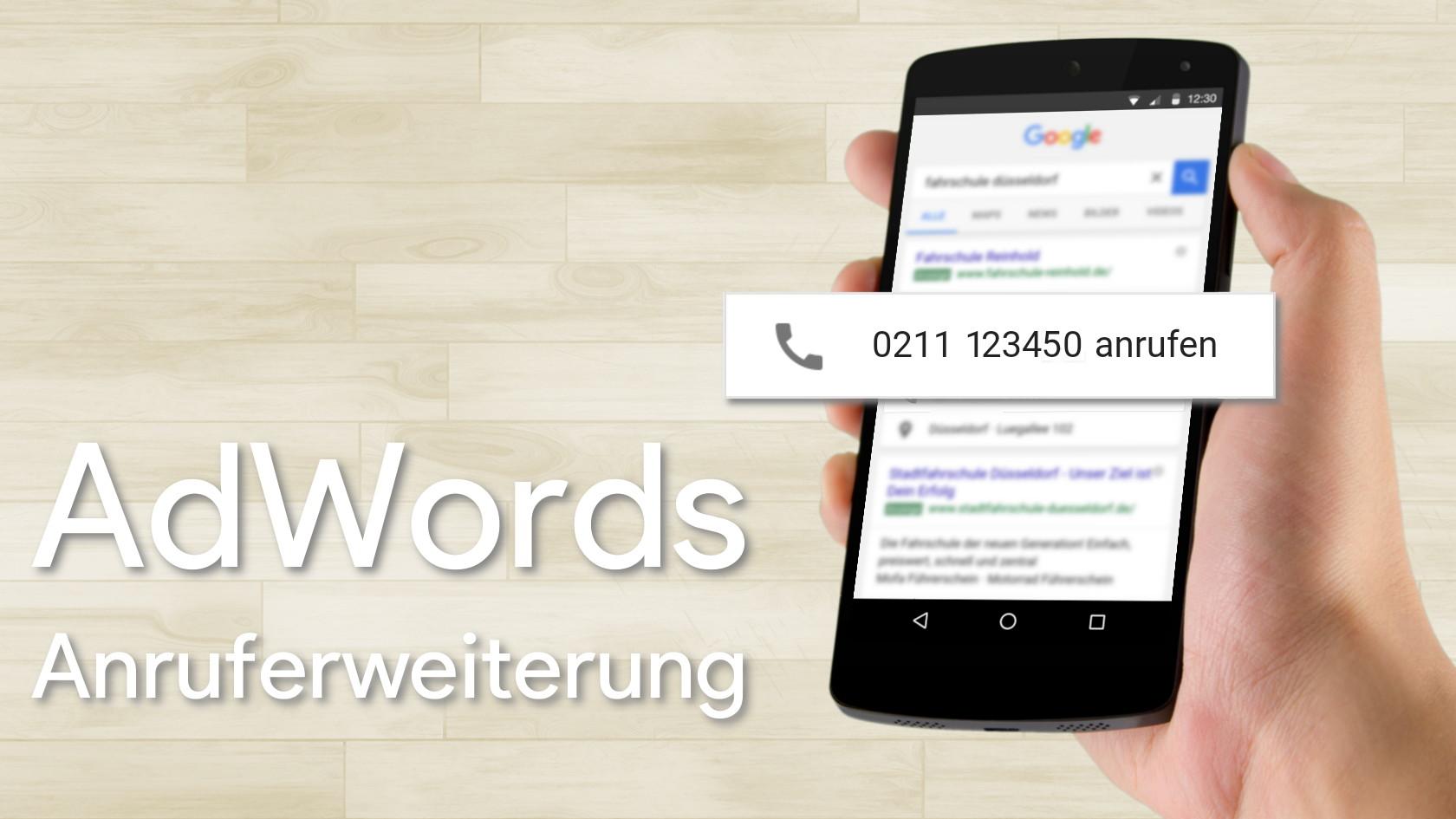 AdWords Anruferweiterung Teaser