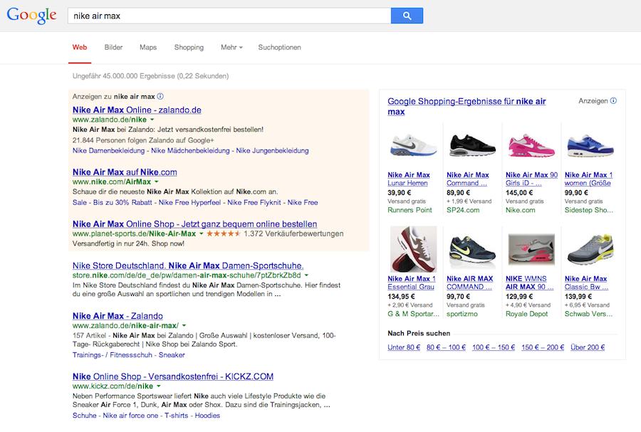 AdWords Werbung auf Namen der Konkurrenz (Bild: https://de.onpage.org/wiki/Google_Shopping)