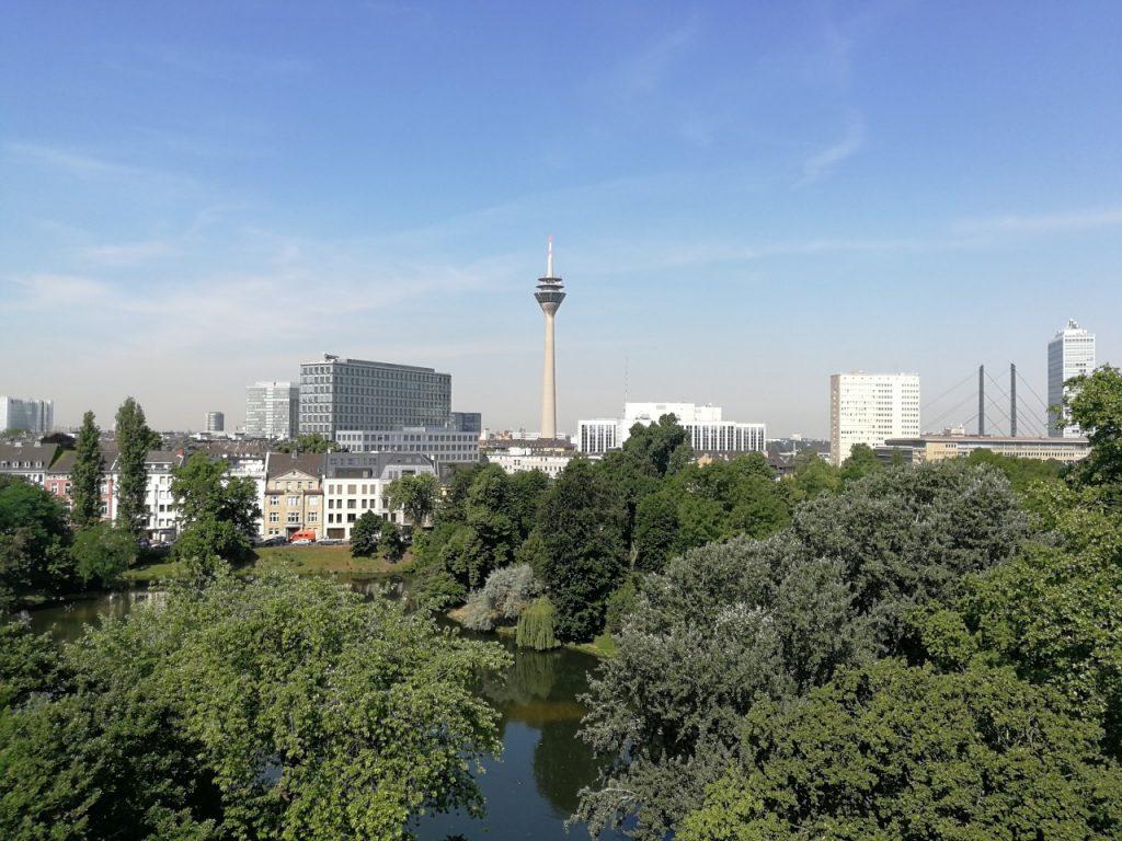 Terrassen-Blick von Kerkhoff-Lounge in Düsseldorf