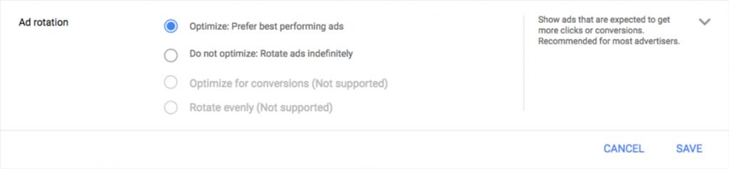 Neue Einstellungen für die Anzeigenrotation (Screenshot)