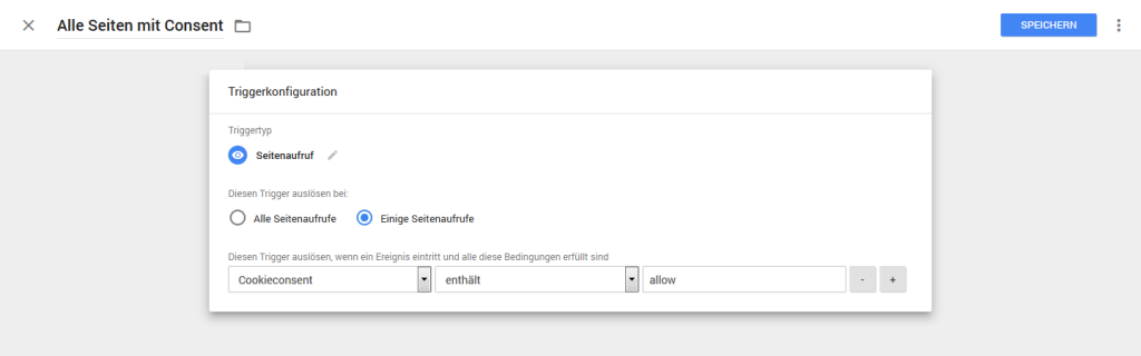 Google Tag Manager: Trigger-Konfiguration für Cookie-Consent