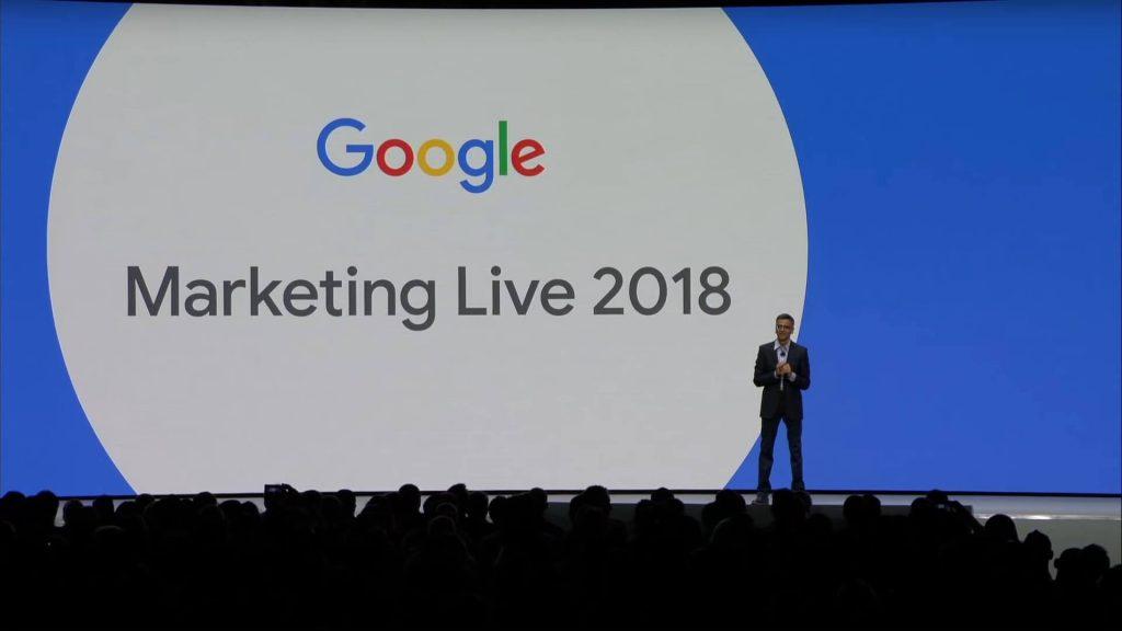 Sridhar Ramaswamy auf Google Marketing Live 2018
