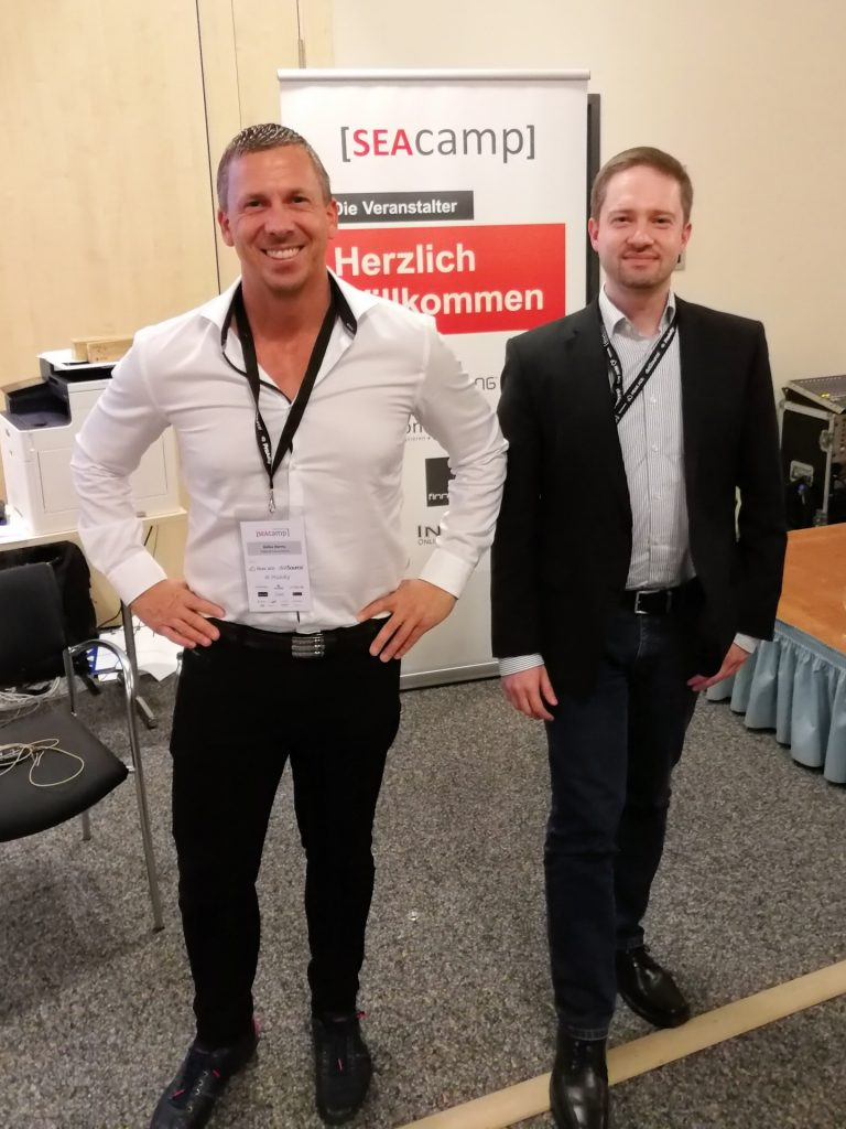 Heiko Harms und Alexander Gut auf dem SEAcamp 2018 in Hannover