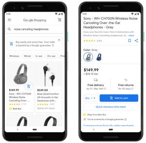 Kaufen direkt aus Google Suchergebnissen heraus (Bild: Google)