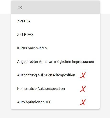 Google Ads Portfolio Gebotsstrategien