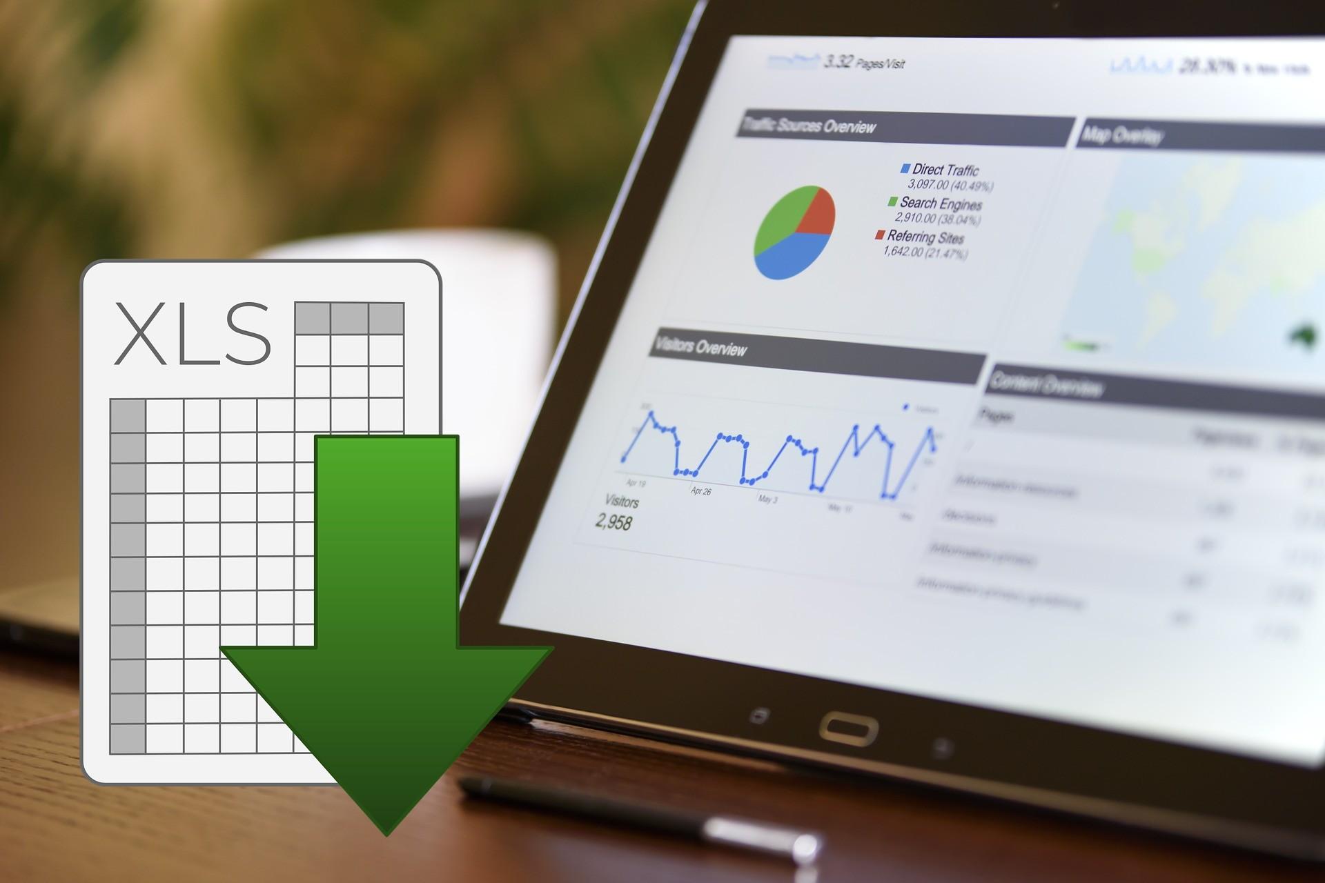 Google Analytics Werte nach Excel exportieren