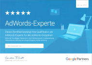 Google AdWords Experte / AdWords Professional Zertifikat