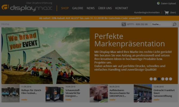 Google Ads Kampagnen für displaymax