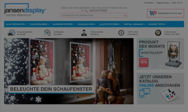 AdWords Kampagne für Jansen Display
