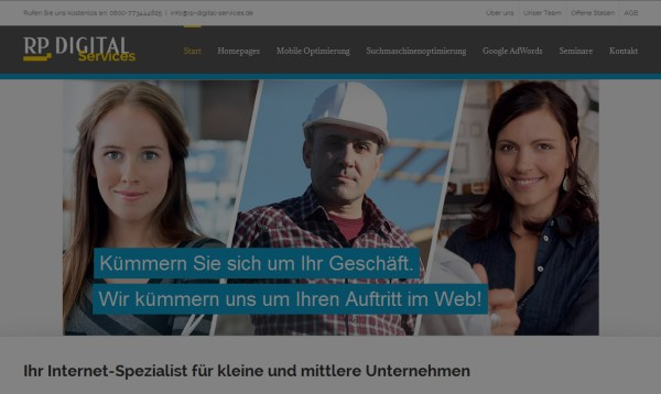 AdWords Kampagne für RP Digital